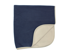Ver de Terre fleece blanket navy/mocha